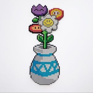Pixelated Floral Wall Decor